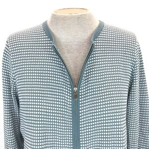 Ann Taylor Factory Gray White Knit Cardigan XL